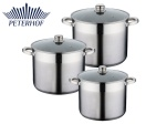 GARNKI 6 ELE STOCK POT PETERHOF ALDEN 12L / 9.5L / 7.5L [PH-15199]