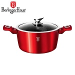 GARNEK 6.5L 28CM BERLINGER HAUS METALLIC LINE RED [BH-1258-N]