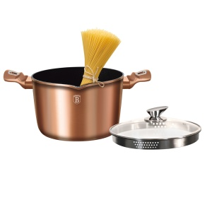 GARNEK DO MAKARONU 5.5L BERLINGER HAUS METALLIC LINE ROSE GOLD [BH-1520-N]