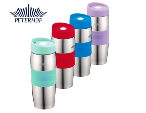 KUBEK TERMICZNY QUICK STOPPER 400ml PETERHOF [PH-12410]