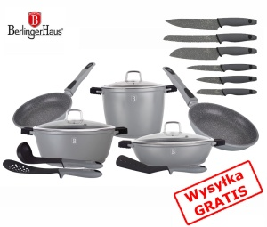 GARNKI BERLINGER HAUS GRANIT DIAMOND GRAY 17 ELE [BH-1118-6]