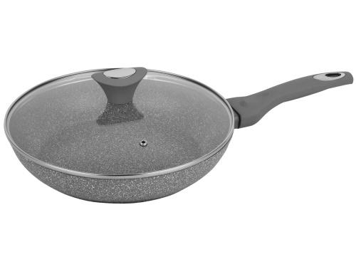 457149 Bratpfanne Pfanne Titanium Granit Aluguss 24cm flach Antihaft Induktion